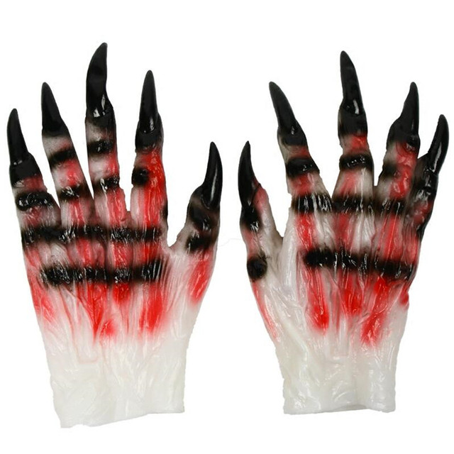 Перчатки с когтями для Хэллоуина