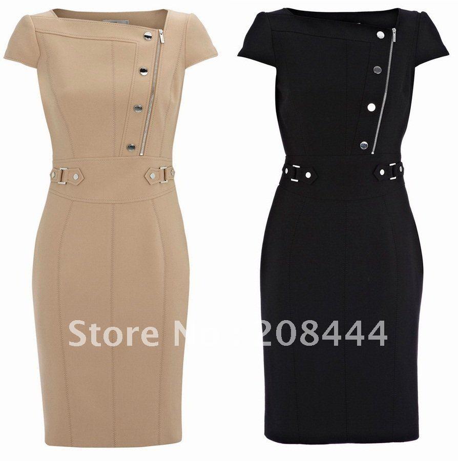 OL commute dresses career dress short sleeves dress pencil