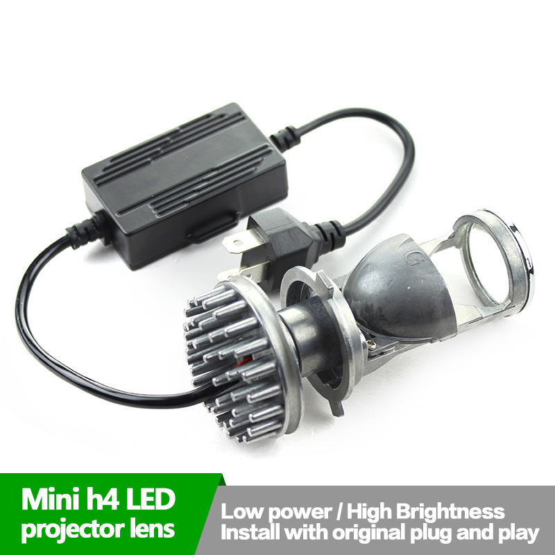 H4 MINI LED projector lens,Low power,high brightness,install with original plug and play power play
