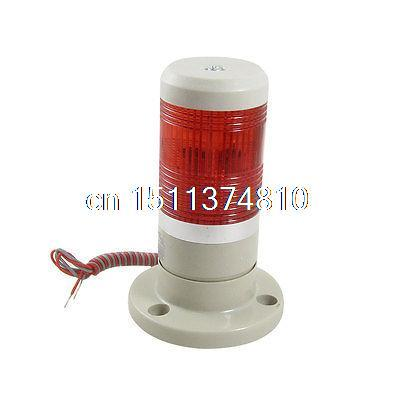 12V DC Red Signal Tower Industrial Warning Lamp Stack Light lta 205j 2 dc12v 2 layer tower light signals bulb warning lamp alarm 90db red green u bottom