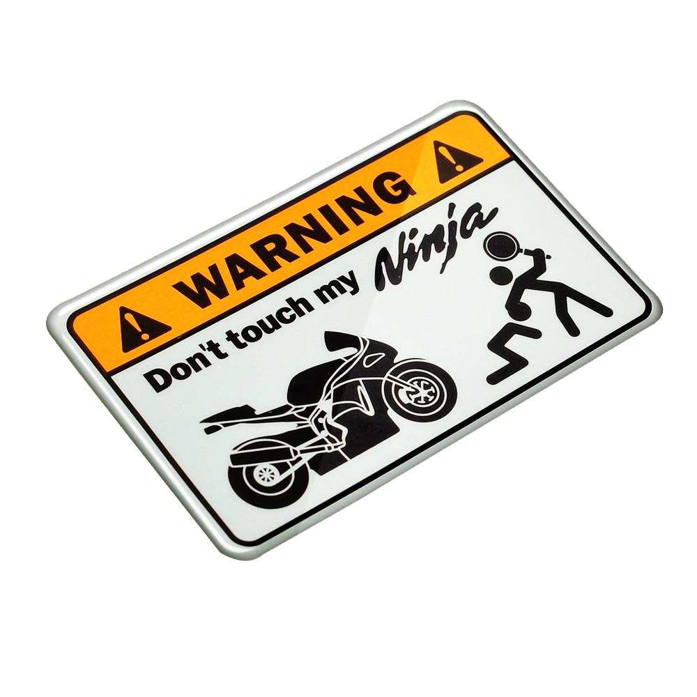 3D Warning Don't Touch My Ninja Motorbike Decals Tank Stickers Case For Kawasaki NINJA Tank Sticker 300R 400R ER-6N ER-5 ER6F