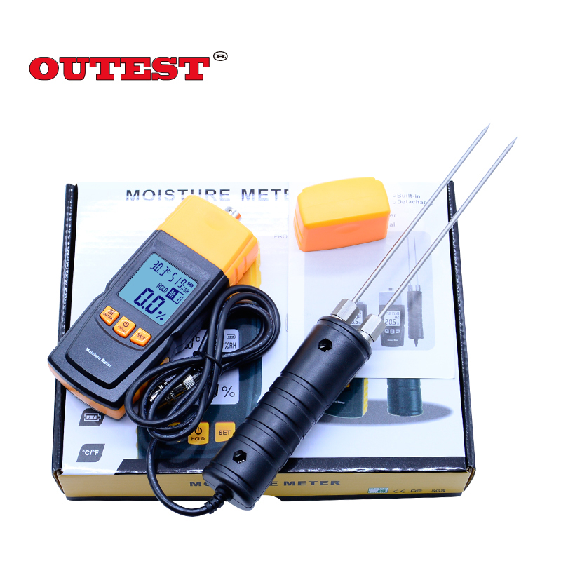 Digital LCD Display Wood Moisture Meter 2~70% Humidity Tester Timber Damp Detector portable wood moisture meter GM620 digital tester 3in1 multifunction temperature humidity time lcd display monitor meter for car indoor outdoor greenhouse etc