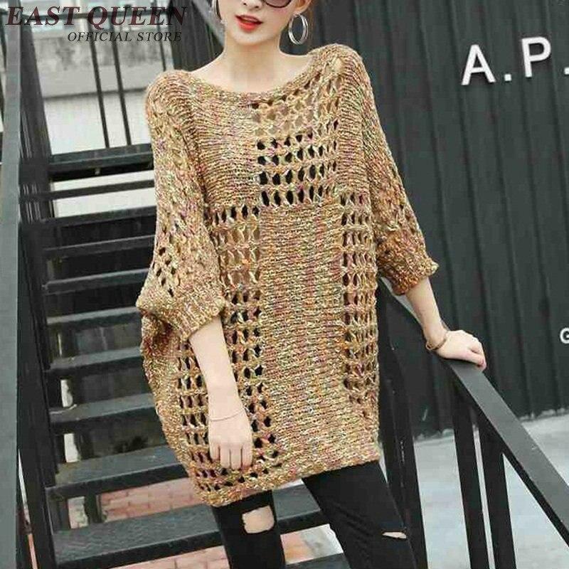 En Mince Hq 2 Robes Crochet Évider Kk896 Femme Manches Maille Robe Main Couverture Tricot 1 D'été souris Ups Fait Chauve gATzqwCg