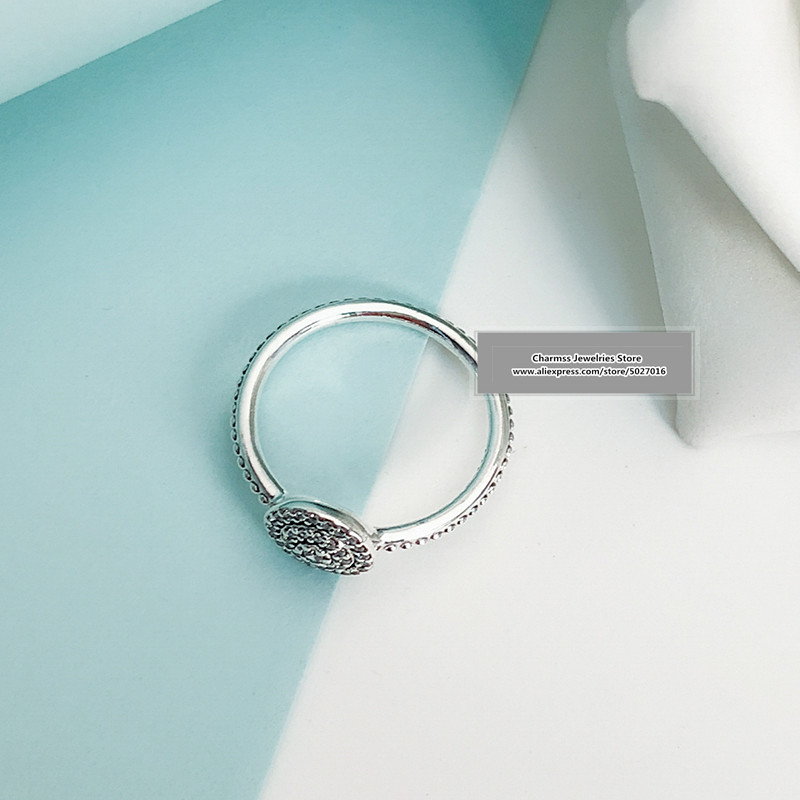 2019 NEW Euro Charm logo Carving S925 silver 925 pandoras ring gifts women jewelry,1pz