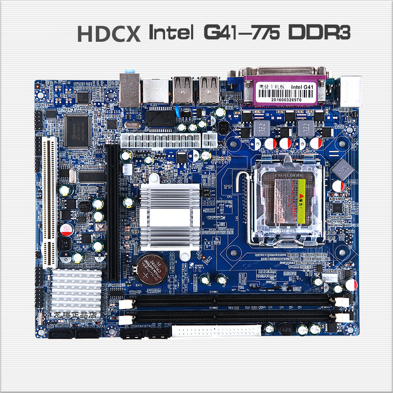 ФОТО New for Intel G41 motherboard 775 DDR3 integrated sound card graphics card