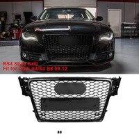 1 шт для RS4 Стиль спереди Спорт Шестигранная сетка соты решетка капота черный глянец для Audi A4/S4 B8 2009 2010 2011 2012 автомобильные аксессуары