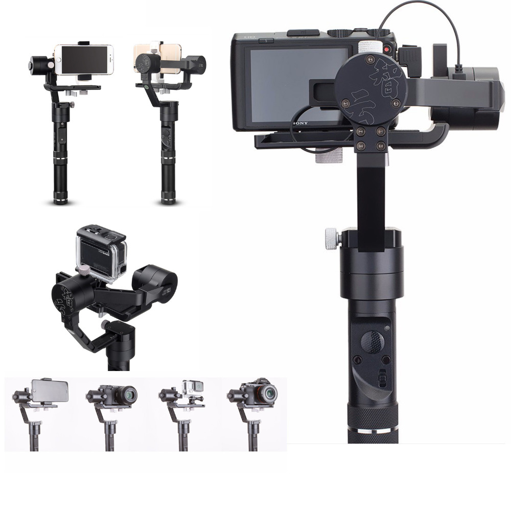 купить Zhiyun Crane M 3-Axis Gimbal Stabilizer for Sports Cameras Smartphones for Sony black magic DC for Lumix DMC Mirrorless cameras недорого