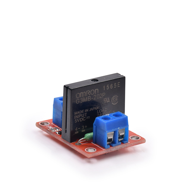1pc 5V 1 Channel <font><b>SSR</b></font> <font><b>G3MB</b></font>-<font><b>202P</b></font> <font><b>OMRON</b></font> Solid State Relay Module 240V 2A Output with Resistive Fuse image