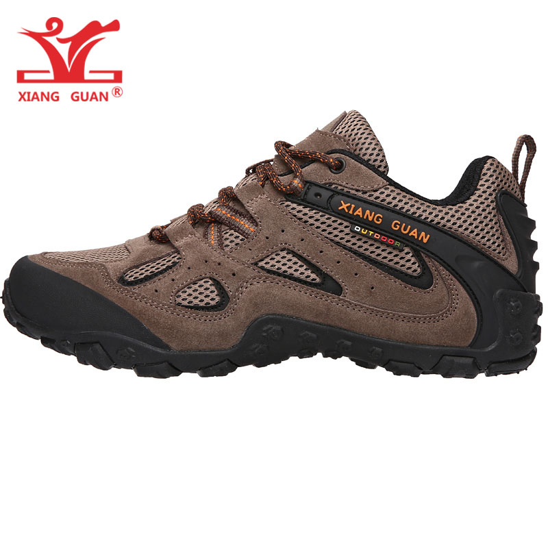 Man Hiking Shoes Men Suede Breathable Trekking Boots Brown Hunting Tactical Climbing Footwear Sports Outdoor Walking Sneakers military men s outdoor cow suede leather tactical hiking shoes boots men army camping sports shoes