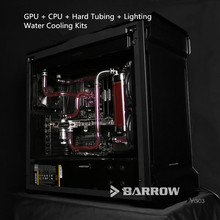 Barrow Water Cooling Kits Program For PHANTEKS 515E Independent GPU + CPU + Hard Tubing + Lighting
