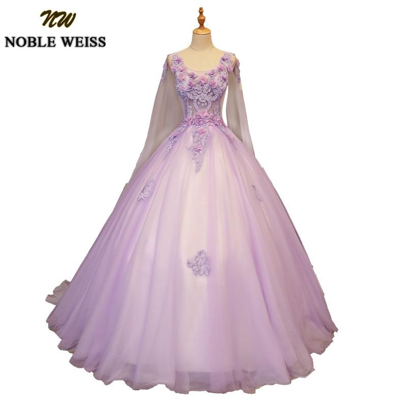NOBLE WEISS Long Cape Quinceanera Dresses Beaded Vestidos De 15 Anos Applique Lace Debutante Gowns Customized