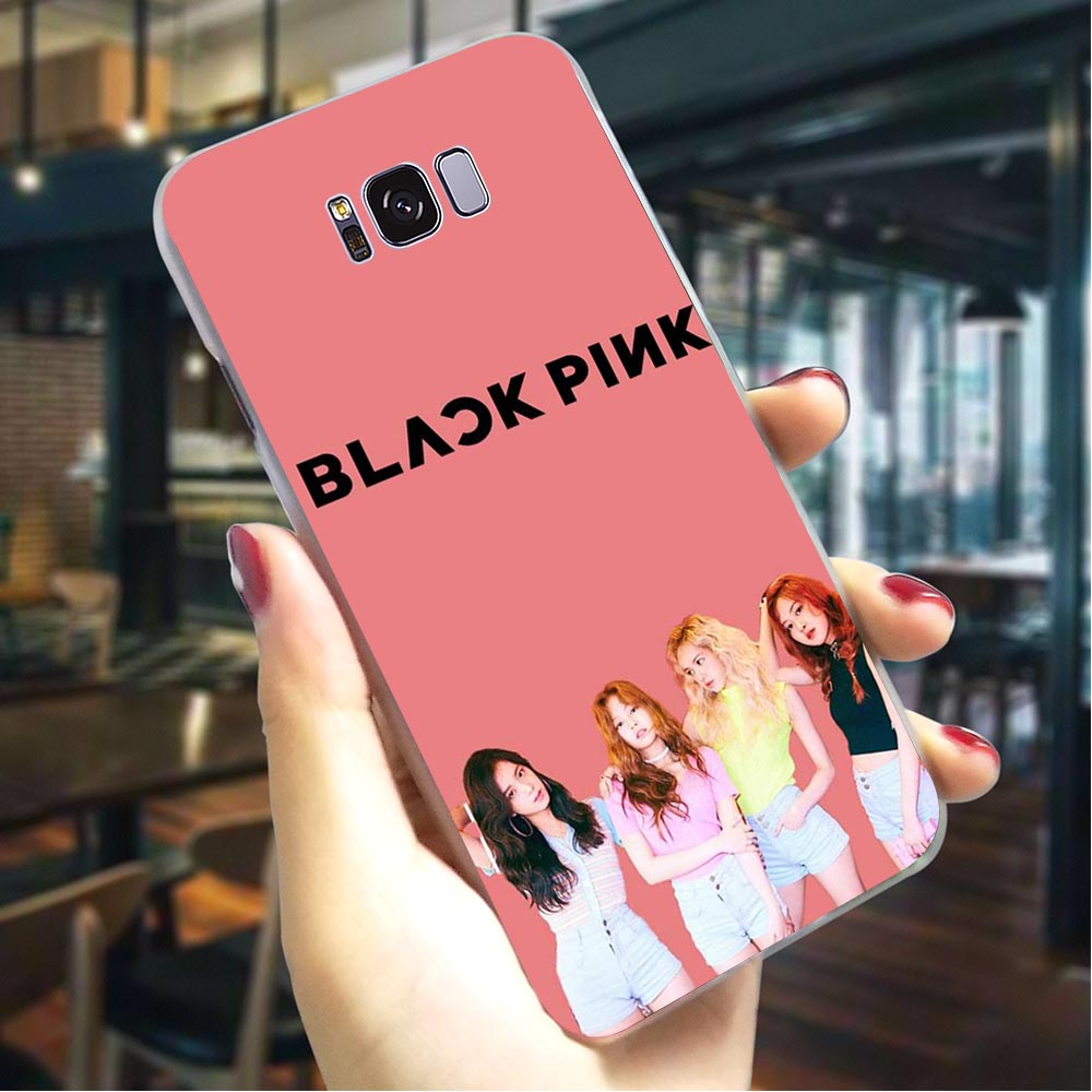 KPOP Pink Hard Case for SamsungGalaxy A5 2018 Protective Phone Cover for Samsung Galaxy A40 A50 A70 A3 A5 Back Cases in Fitted Cases from Cellphones Telecommunications