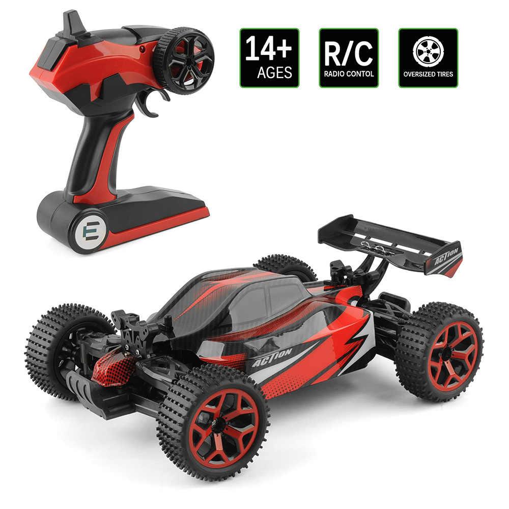 1/18 RC samochód 4WD 2.4G 4CH High Speed 20 KM/H samochody Scal RC zabawki jeździk skalny podwójne silniki napęd Buggy zabawki dla chłopców prezenty bożonarodzeniowe
