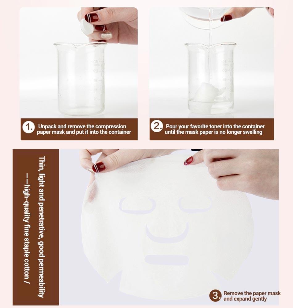 MEIKING 60PCS Skin Care DIY Facial Face Compressed Mask Women Beauty DIY Disposable Mask Paper Natural Skin Care Wrapped Masks 11