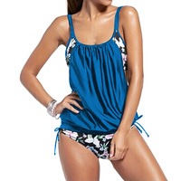 Women Sexy Spaghetti Strap Floral Print Swimwear Push Up Tankini Top Maillot De Bain Tankini Swimsuit