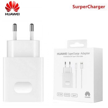HUAWEI Original Fast Charger Mate 9 10 Mate 20 Pro P20 Supercharge Quick Travel Wall Adapter 4.5V5A/5V4.5A Type-C 3.0 USB Cable