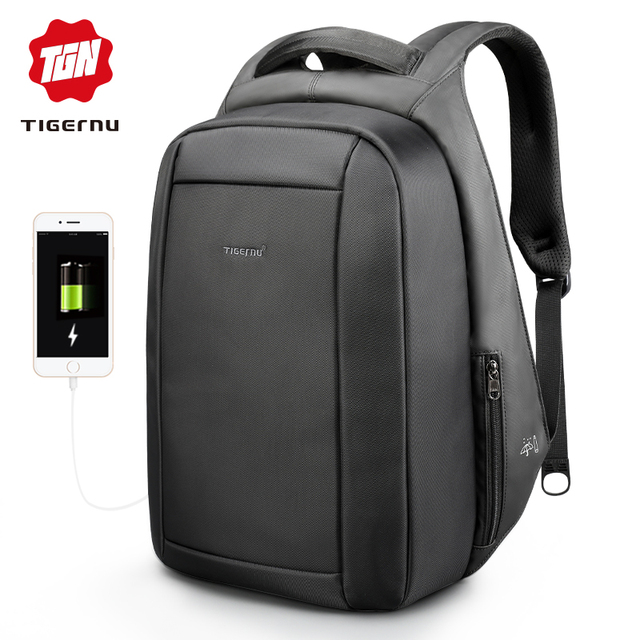 Tigernu Waterproof Anti Theft Men's Backpacks 15.6inch Laptop Notebook USB Backpack for Teenage Women Male Mochila