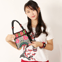 New Chinese Style Handmade Embroidered Embroidered 2018 Small Tote Bags Women Shoulder Bag Handbags Messenger Bag sac a main цена в Москве и Питере