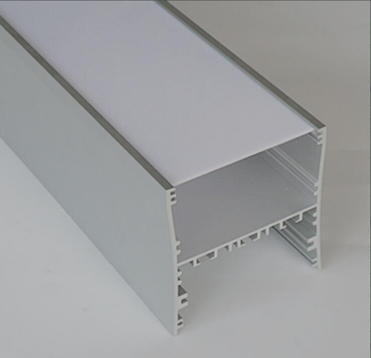 Livraison gratuite de haute qualité 1.8 m/pcs 18 m/lot chine approvisionnement suspendu linéaire pendentif LED logement léger