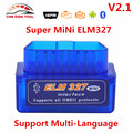 Super V2.1 Version MINI ELM327 Bluetooth OBD/OBD2 Wireless ELM 327 Work ON Android PC Diagnostic Scanner Tool ELM327 Code Reader