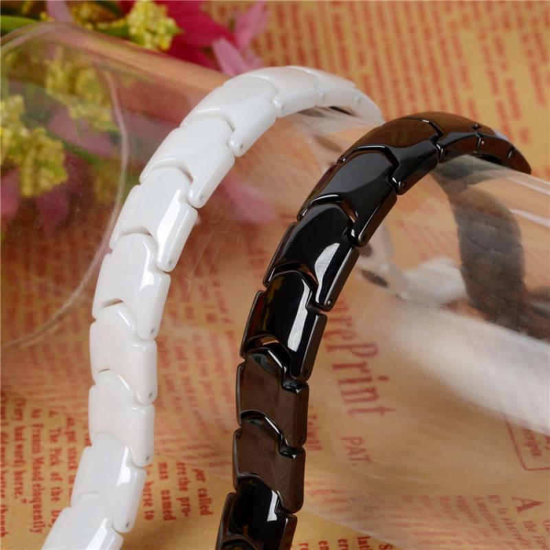 Hottime Black White Keramiska Magnetiska Terapi Armband Bio Element - Märkessmycken - Foto 3