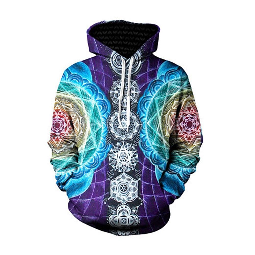 2018 Fashion Digital 3D Thread Pattern Hoodies Men Women Boys Long Sleeve Sweatshirts Zipper Hooded Coat Pullover Tracksuits