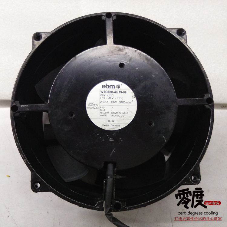 Original EBM PAPST W1G180-AB19-06 24V 2.07A 43W 200*200*70MM cooling fan new original ebm papst w1g180 ab47 01 48v 100w 200 70mm inverter cooling fan