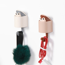 Creative Telescopic Squirrel Hooks Clothes Hat Wall Hook Coat Towel Hanger Cute Kitchen Wall-Mounted Minimalist Home Decor