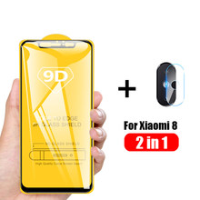 For Xiaomi Mi 8 Mi8 Glass 9D Full Cover Tempered Glass + Back Camera Lens Film Protector For Xiaomi8 Xiomi 8 Protective Glass(China)