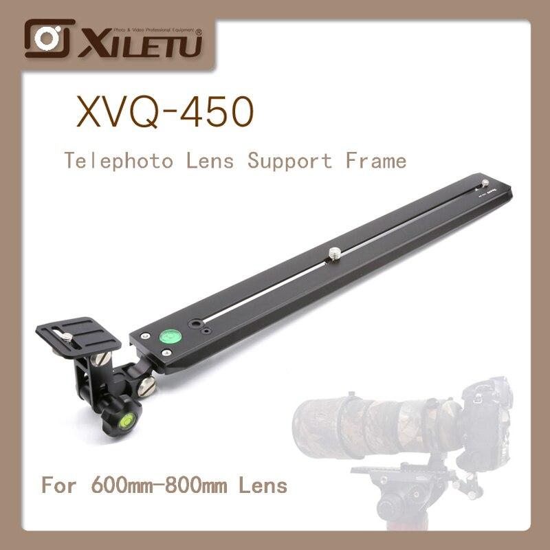 XILETU XVQ-450 Téléobjectif Adaptateur Support Allonger Plate400mm Pour L'observation des Oiseaux Tête Hydraulique tête Sachtler Manfrotto Gitz
