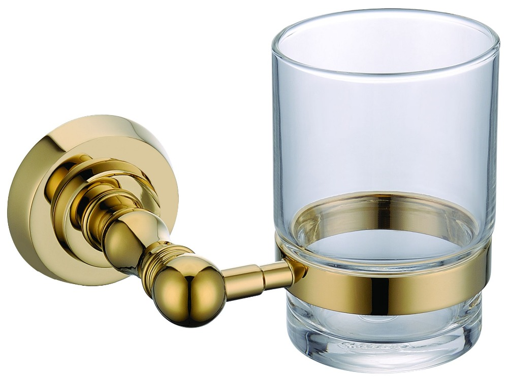 FREE SHIPPING new design 24k GOLD Round single cup and tumbler holders