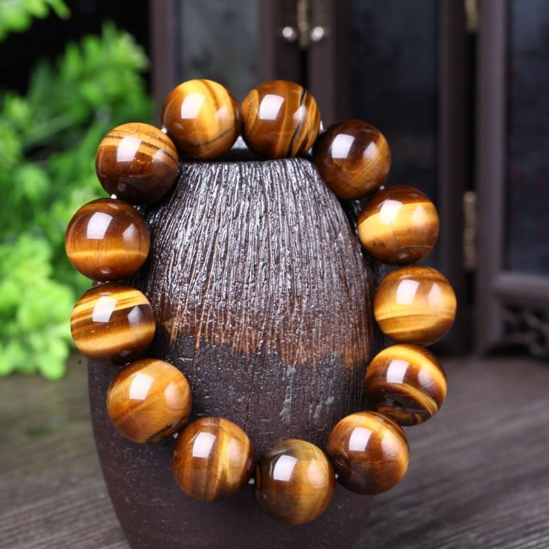 Engros Natural Tiger's Eye Stone armbånd & armbånd Mode 5A for kvinder og mænd Armbånd Gaveperler Armbånd smykker