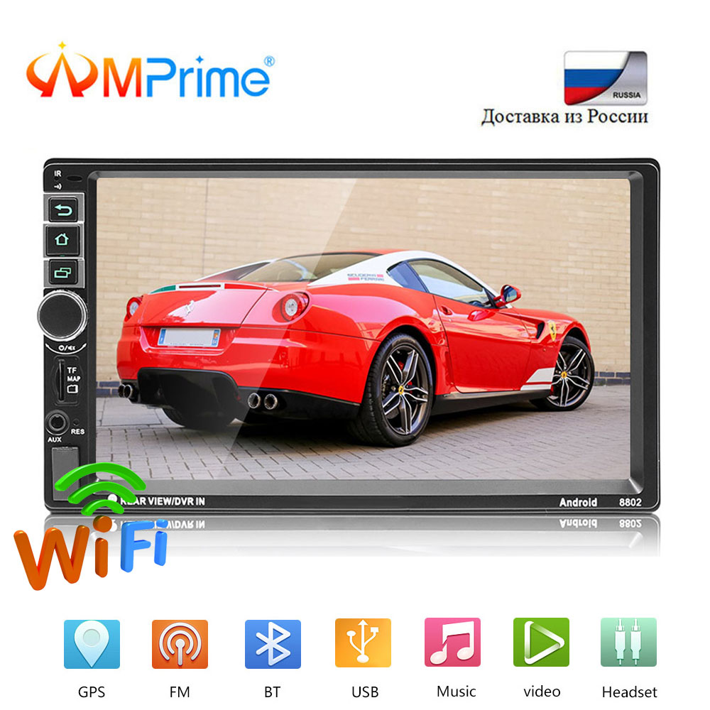 AMPrime 2din Android Car Radio 7 WIFI Car Multimedia Player Bluetooth GPS Navigation Mirror link  FM 2 DIN Autoradio MP5 PlayerAMPrime 2din Android Car Radio 7 WIFI Car Multimedia Player Bluetooth GPS Navigation Mirror link  FM 2 DIN Autoradio MP5 Player
