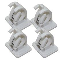 Accessories Curtain rod Bracket 4Pcs Rack Plastic White Hanging Tools Crossbar Hooks Organizer Rails Practical