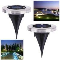 Lampe solaire enterrée imperméable extérieure de lumière actionnée solaire de 4 LEDs pour la route de cour de pelouse de jardin à la maison