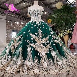 Image 3 - AIJINGYU サテンフリルトリムセクシーなショートドレス格安デザイナーカスタムボール母の花嫁衣装安価なウェディングドレス