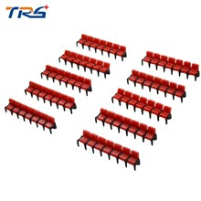 New 1:75 Scale Film Chair 20pcs Miniature Scale Model Chair for Cinema Scenery(China)