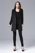 Cheap and Chic Celebrity All match Woolen Medium Long Jacket