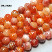 Free Shipping Natural 10mm Red Carnelian Round Loose Beads DIY Semi Precious Stone Wholesale