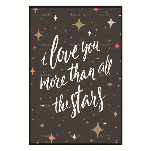 Living Room Art Decoration Pictures Letter I Love You More Than All