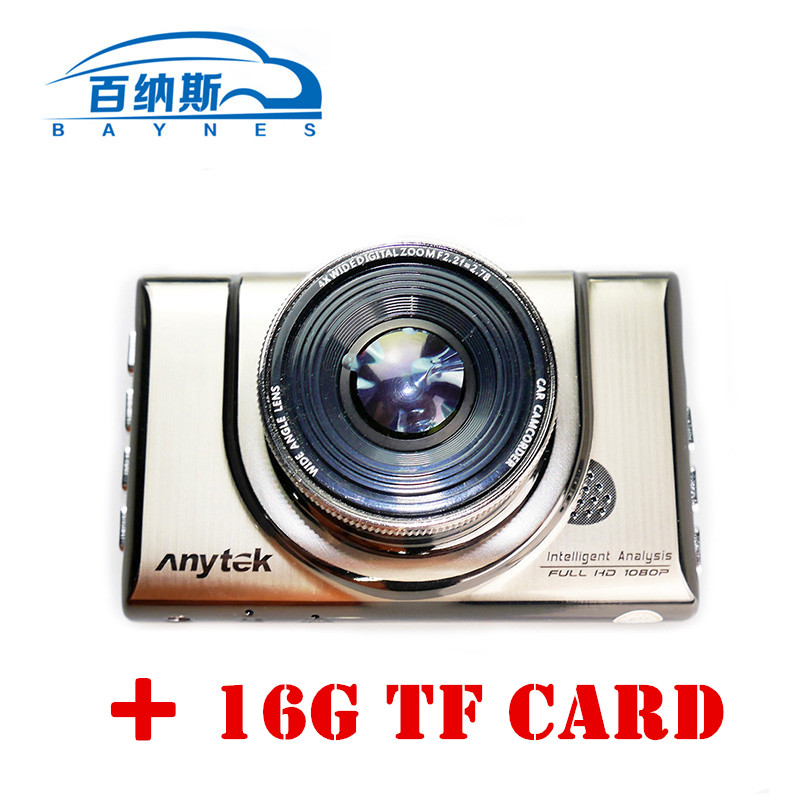 ФОТО Anytek A100 Car DVR Equipped with 16TF card Car Camera AR0330 1080P WDR Parking Monitor Night Vision Black Box