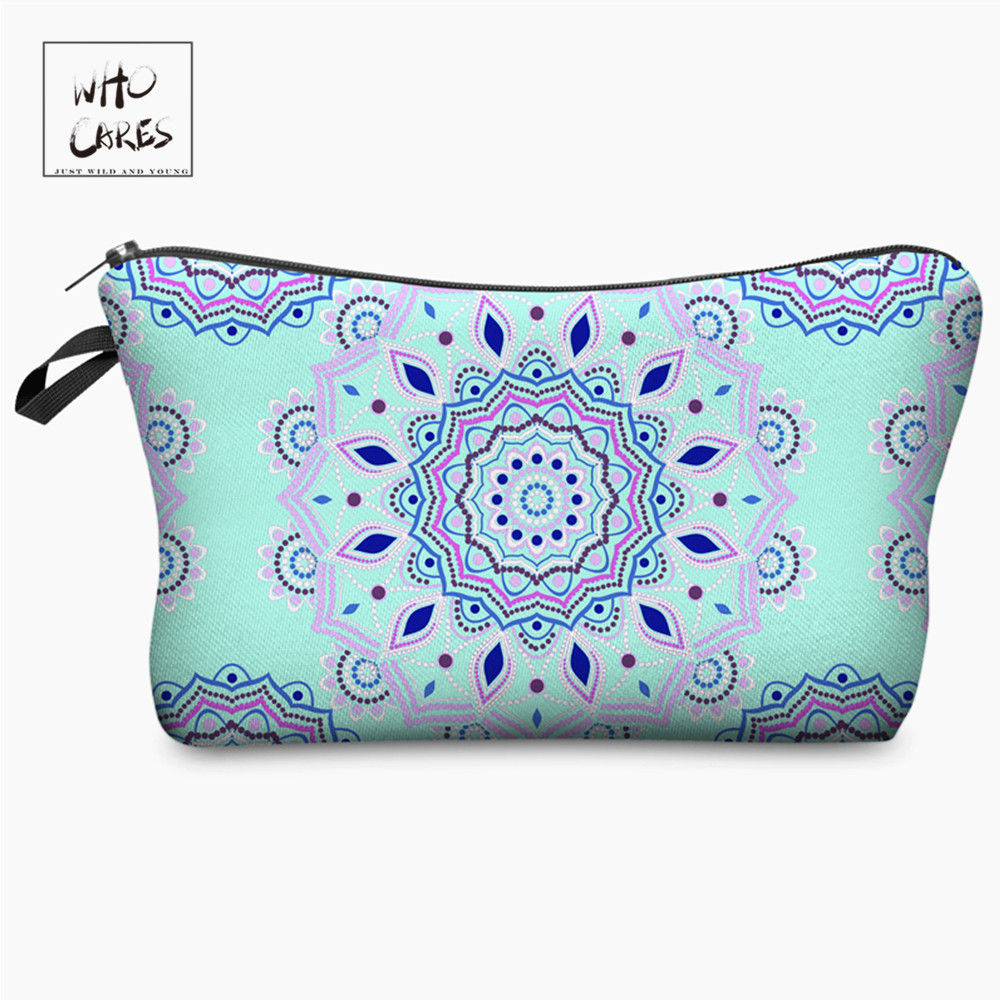 Who Cares Fashion Makeup Bags Mandala 3D Printing Printing 3D Printing Cosmetics Pouchs For Travel Women Cosmetic Bag
