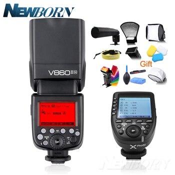 Godox V860II V860II-N GN60 i-TTL HSS 1/8000s Speedlite Flash w/ Li-ion Battery + Xpro-N Flash Transmitter for Nikon + Gift