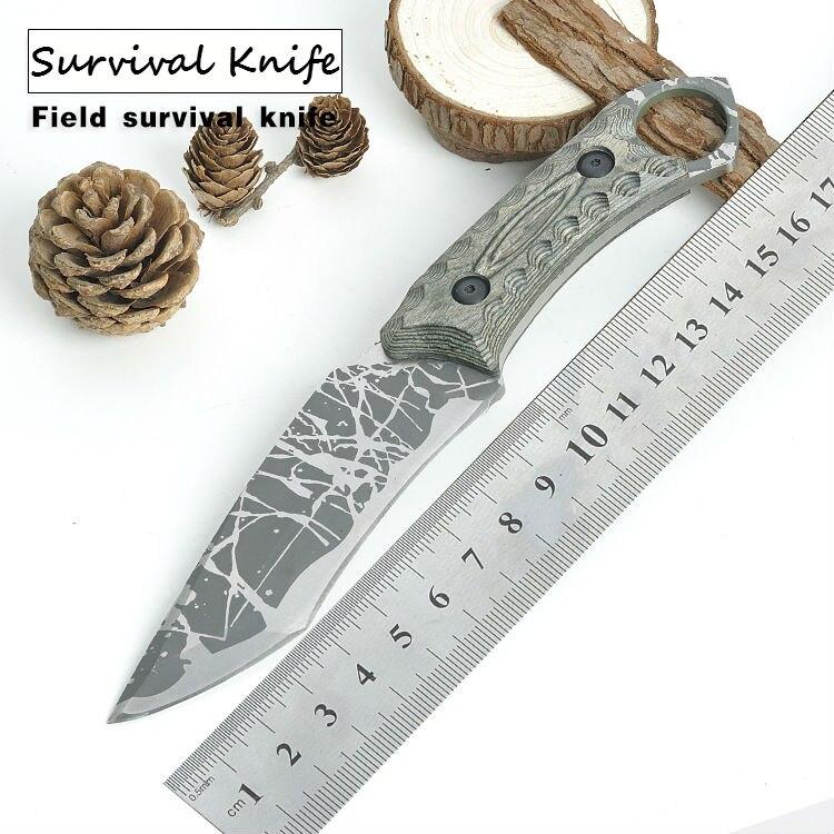 HOT Survival font b Knife b font STRIDER Fixed 440C Blade font b Knife b font