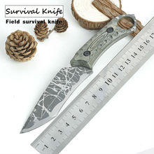 HOT Survival Knife STRIDER Fixed 440C Blade Knife Color Wood Handle Tactical Hunting Knifes Camping Knives Outdoor Tools KN263