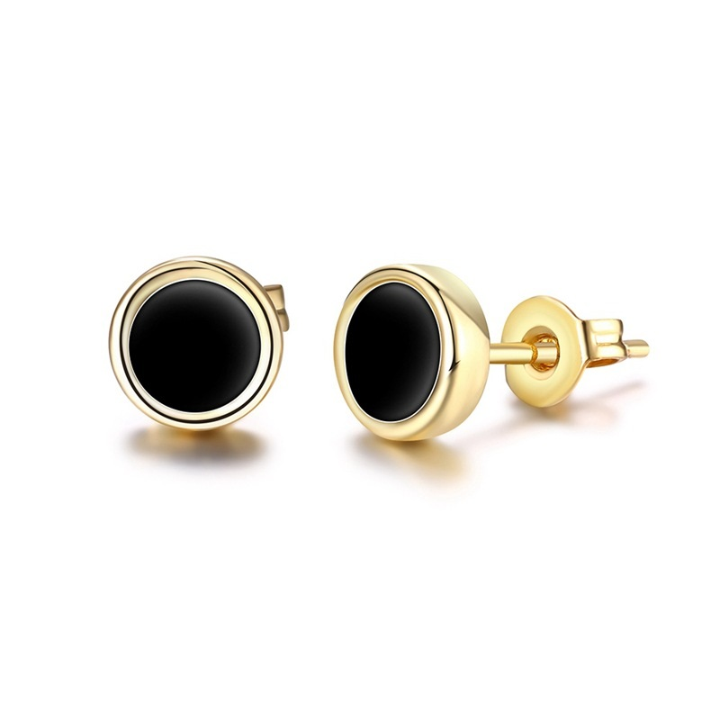 black previous earrings new stone earring custom york aurate products circle