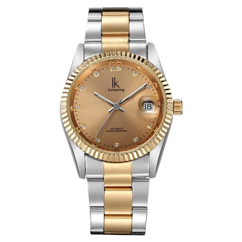 лучшая цена Fashion watch ik for classic calendar window mens watch fully-automatic mechanical watch male watch