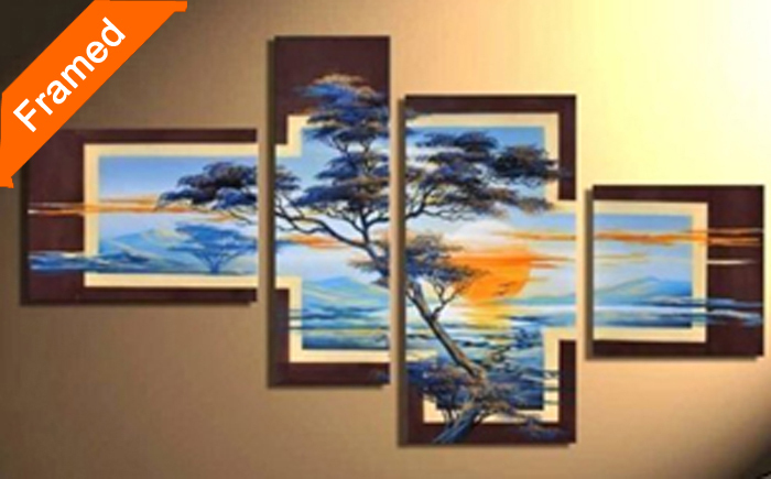 Fresh Air Natural Scenery Oil Painting Multi Panels Canvas