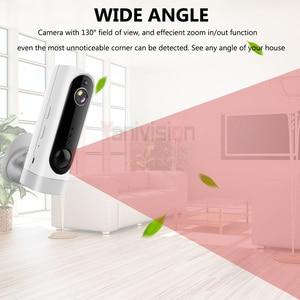 Image 4 - Baterii WiFi kamera akumulator zasilany z baterii 720 P 1080 P Full HD kryty zabezpieczenia sieci bezprzewodowej kamera IP 130 szeroki kąt z systemem IOS aplikacja ICsee