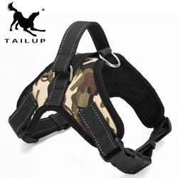 [Tailup] Pet товары для больших собак жгут k9 светящиеся светодио дный Воротник Щенок выполнения домашних животных жилет собака ведет аксессуары